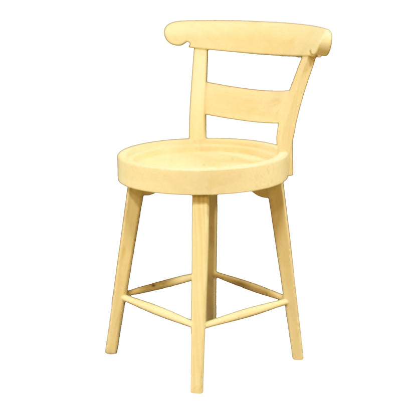 COUNTRY FRENCH COUNTER STOOL RAW FRAME
