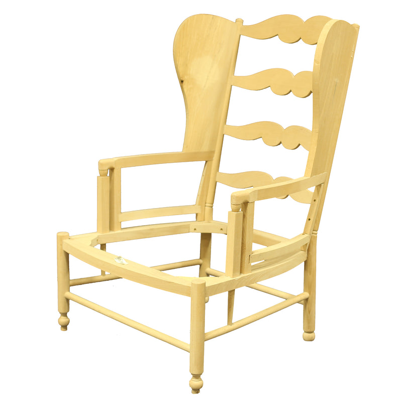 BELLE PROVENCE COUNTRY FRENCH LADDERBACK CHAIR WING BACK STYLE RAW FRAME
