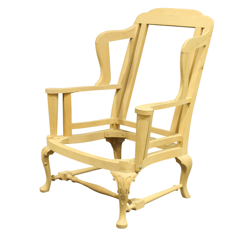 QUEEN ANNE WING CHAIR RAW FRAME