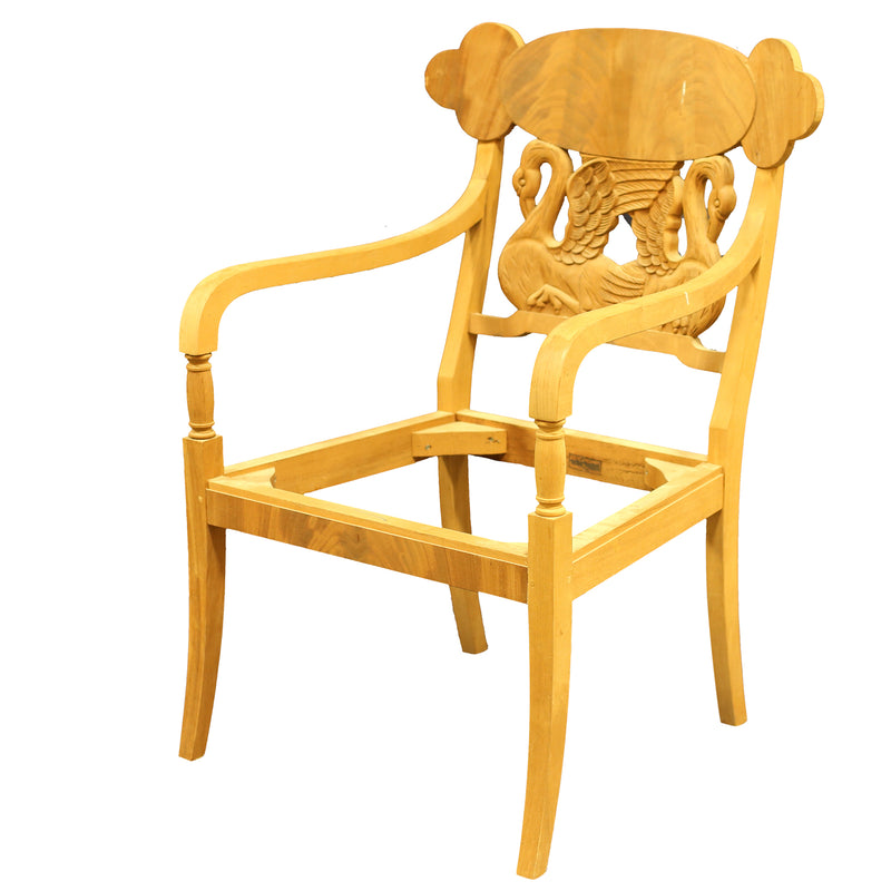 SWEDISH BIEDERMEIER ARMCHAIR RAW FRAME