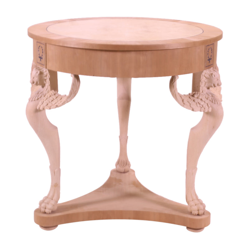 ROUND ALEXANDER II SIDE TABLE RAW FRAME