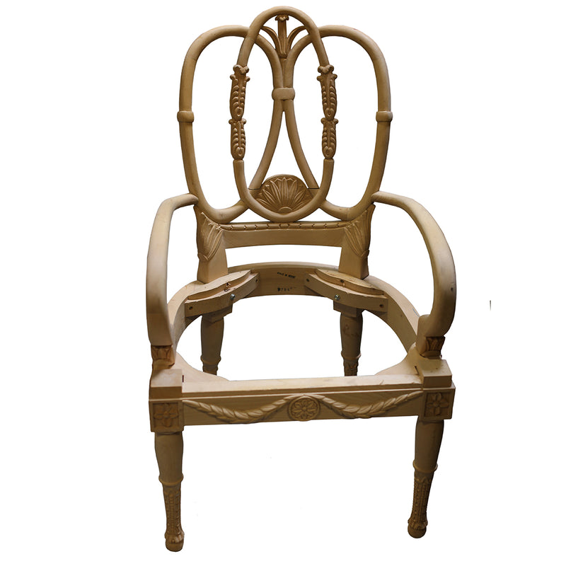 SWEDISH NEOCLASSICAL ARMCHAIR RAW FRAME