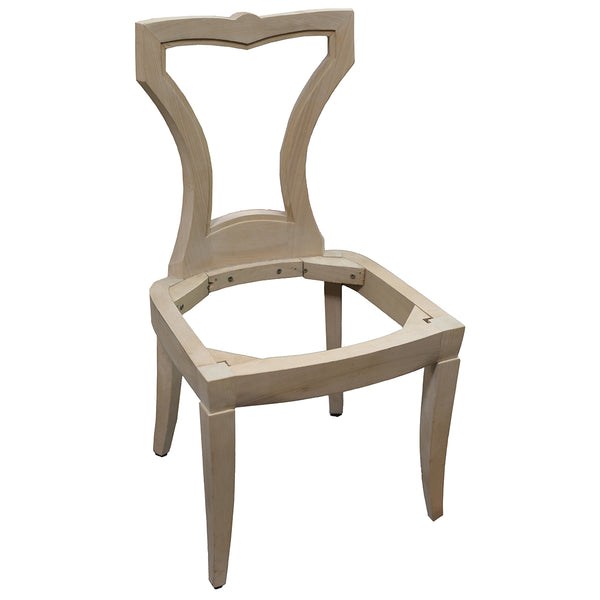 FRENCH ART DECO DINING CHAIR RAW FRAME