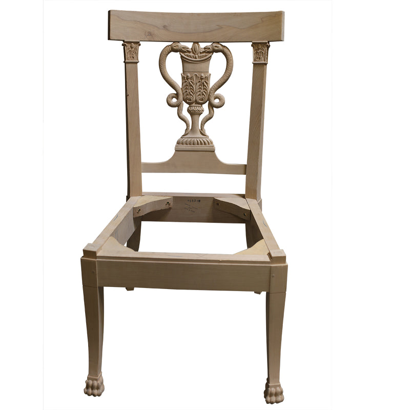SWEDISH NEOCLASSIC SIDE CHAIR RAW FRAME