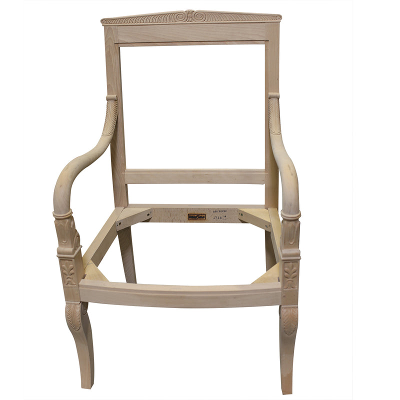 FRENCH EMPIRE OCCASIONAL CHAIR RAW FRAME