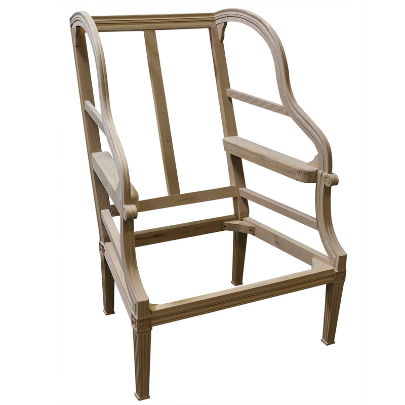 LOUIS XVI PORTERS CHAIR RAW FRAME
