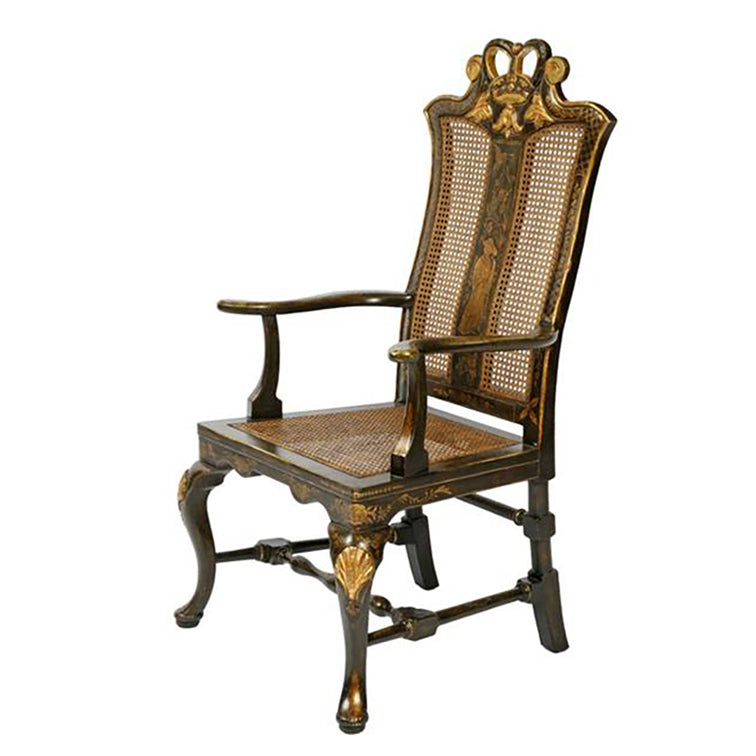 CHINESE CHIPPENDALE DINING ARMCHAIR
