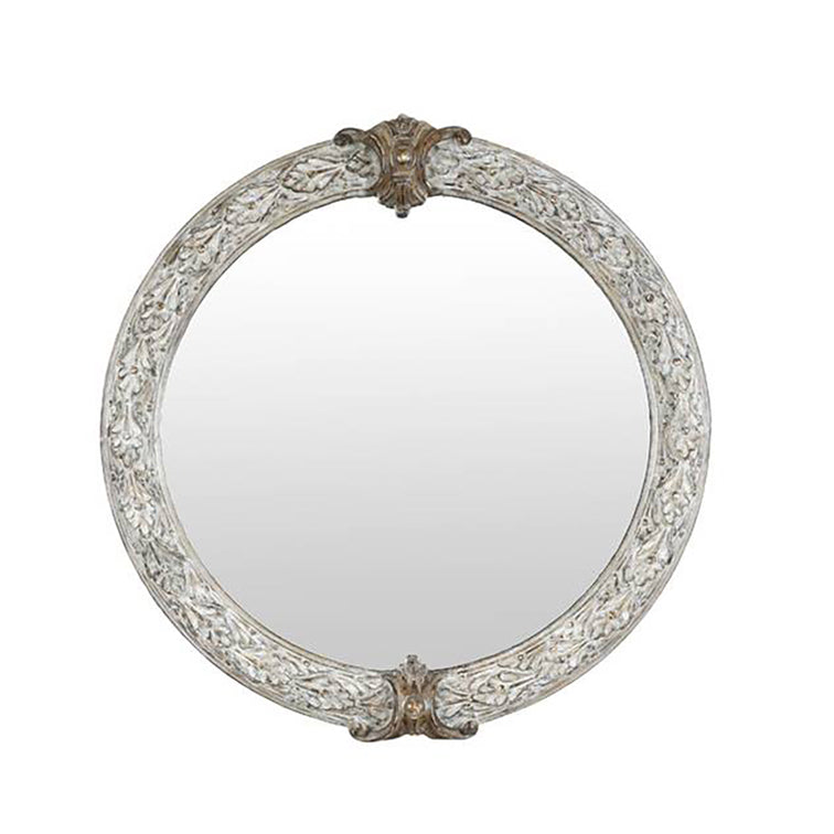 LARGE REGENCY LEAF MIRROR