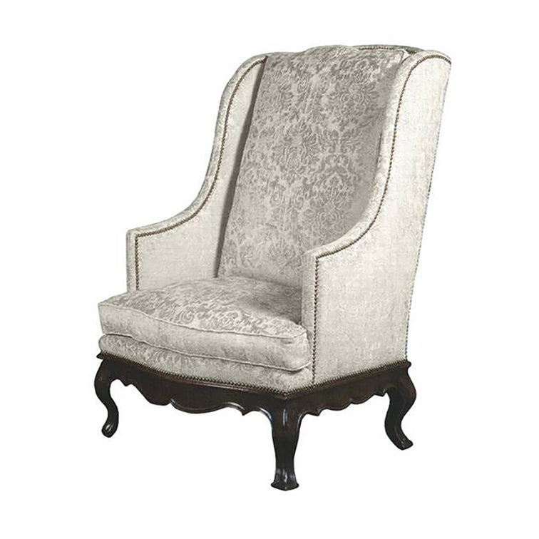 LOUIS XV STYLE COUNTRY FRENCH WING CHAIR