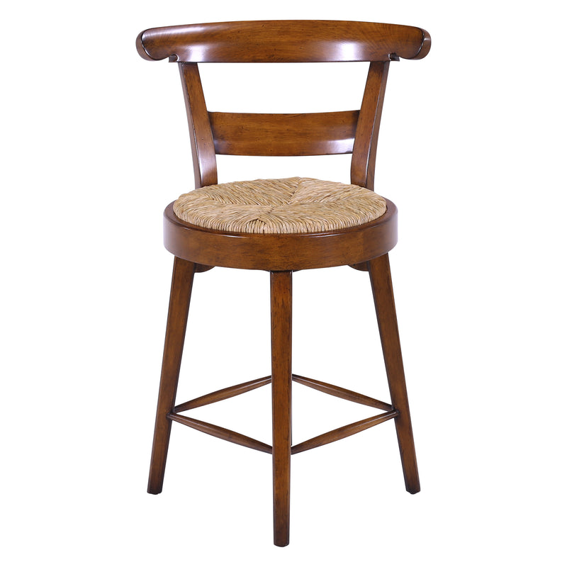 COUNTRY FRENCH HAND CARVED BARSTOOL