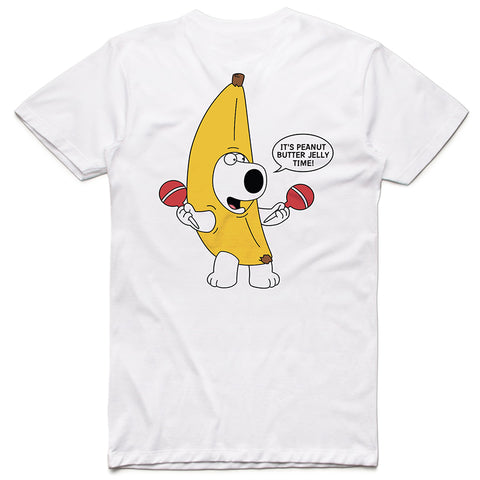 PEANUT BUTTER JELLY TIME WHITE TSHIRT