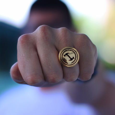 STONECUTTERS RING GOLD