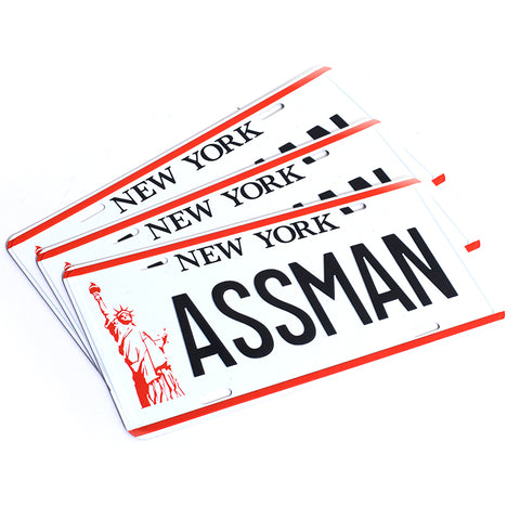 ASSMAN FULL SIZE LICENSE PLATE (3 PACK)
