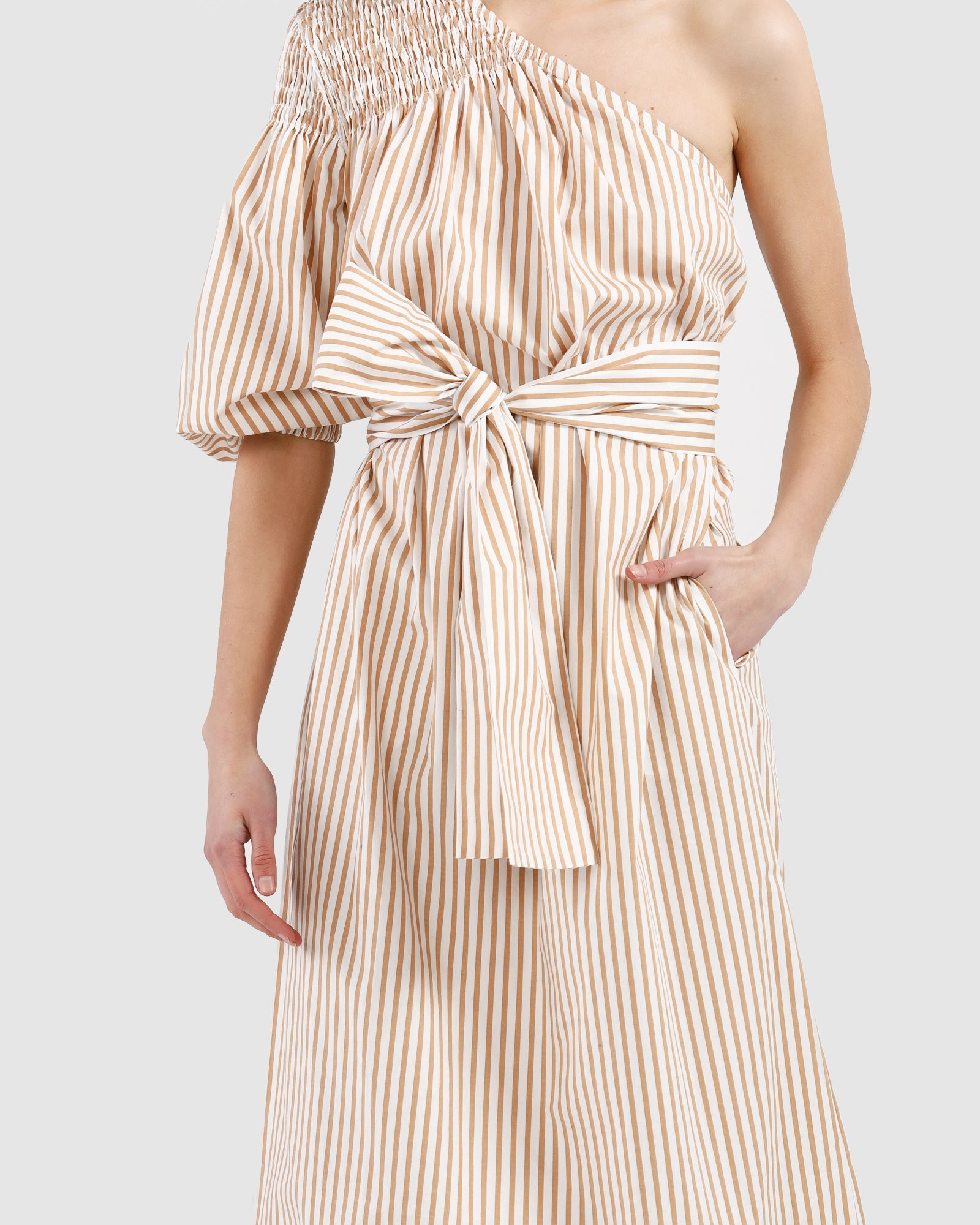 Louise Dress / Canary stripe