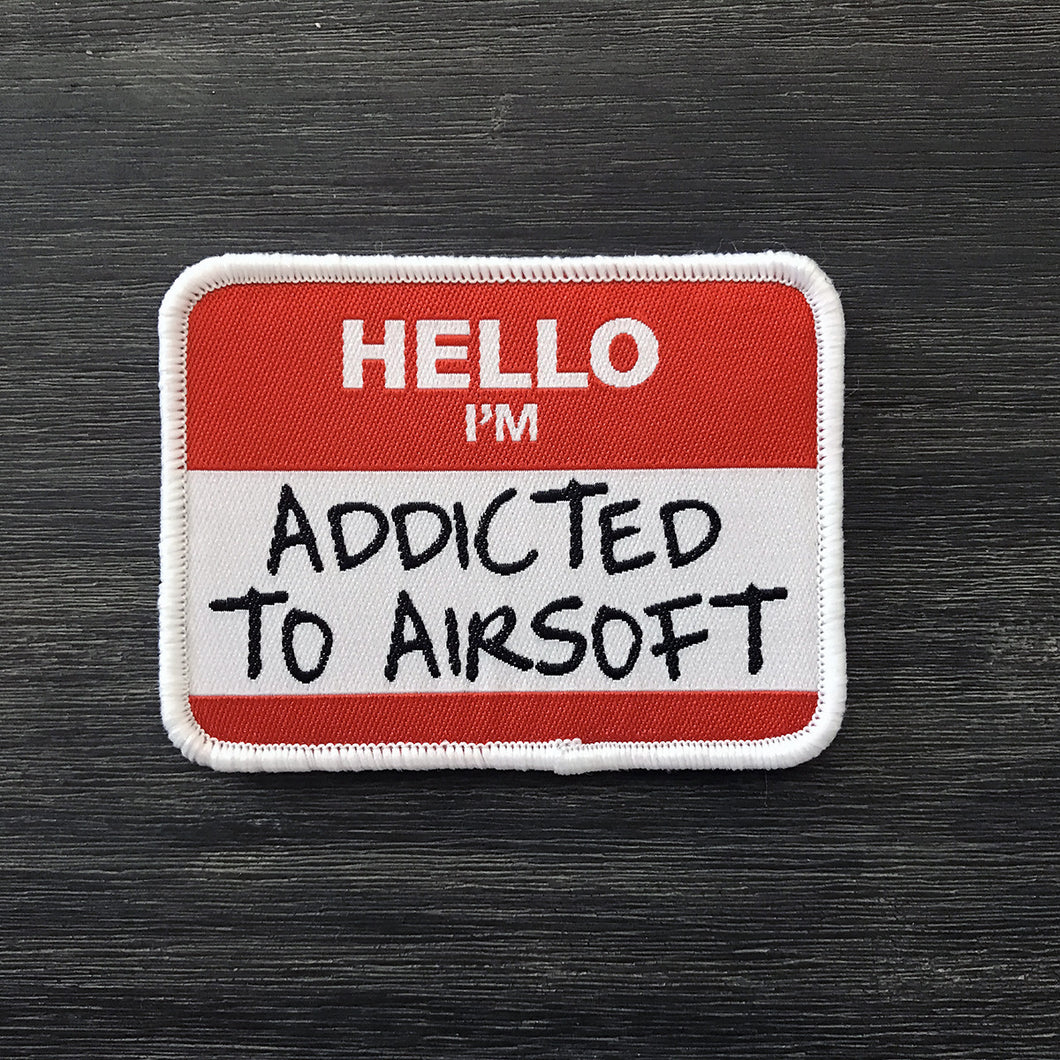 Name Tag Patch – Addicted to Airsoft [Free Shipping]