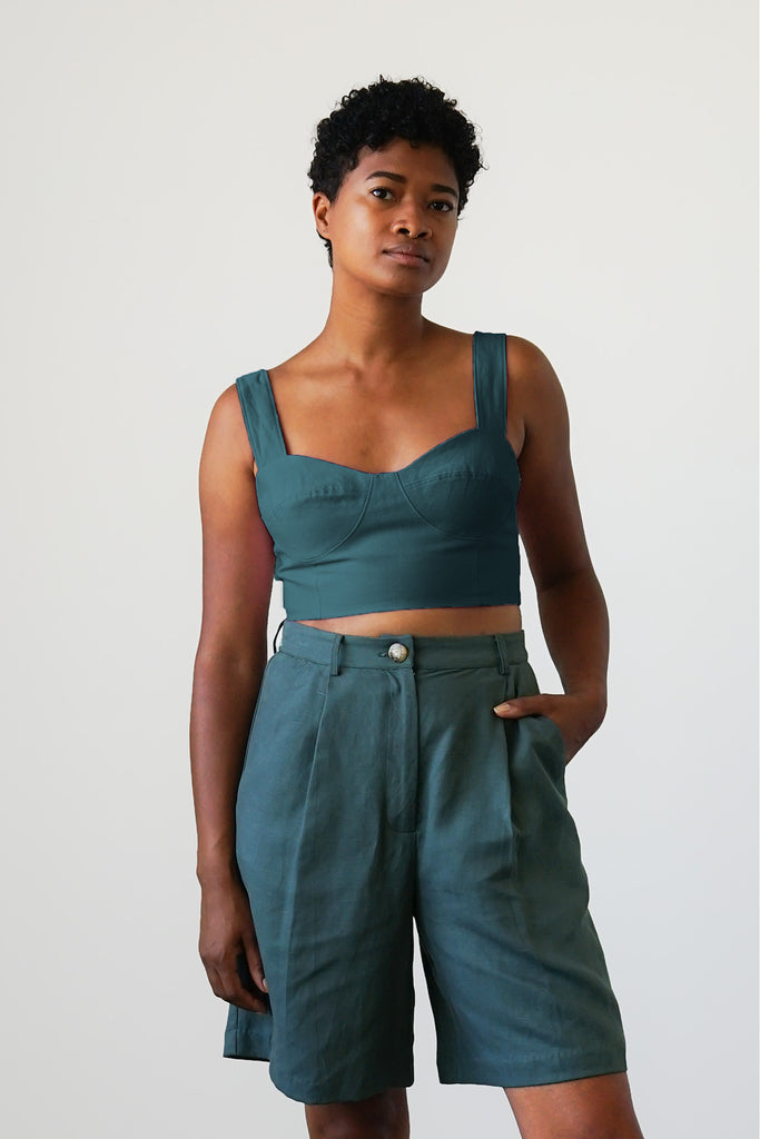 Bralette Top in Spruce - Made To Order