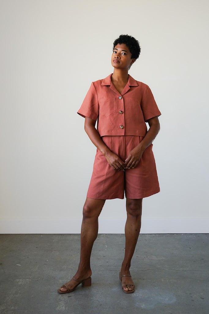 Lido Shorts in Cinnamon