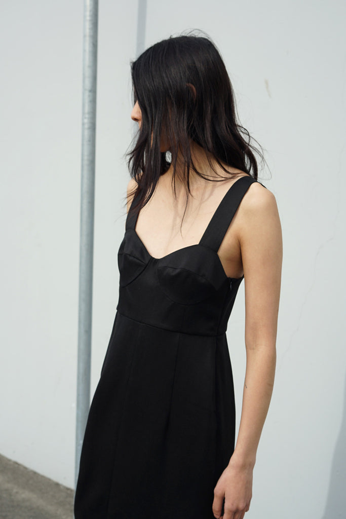 Bralette Dress in Black