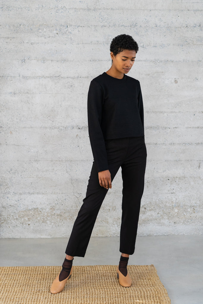 Cigarette Trousers in Black