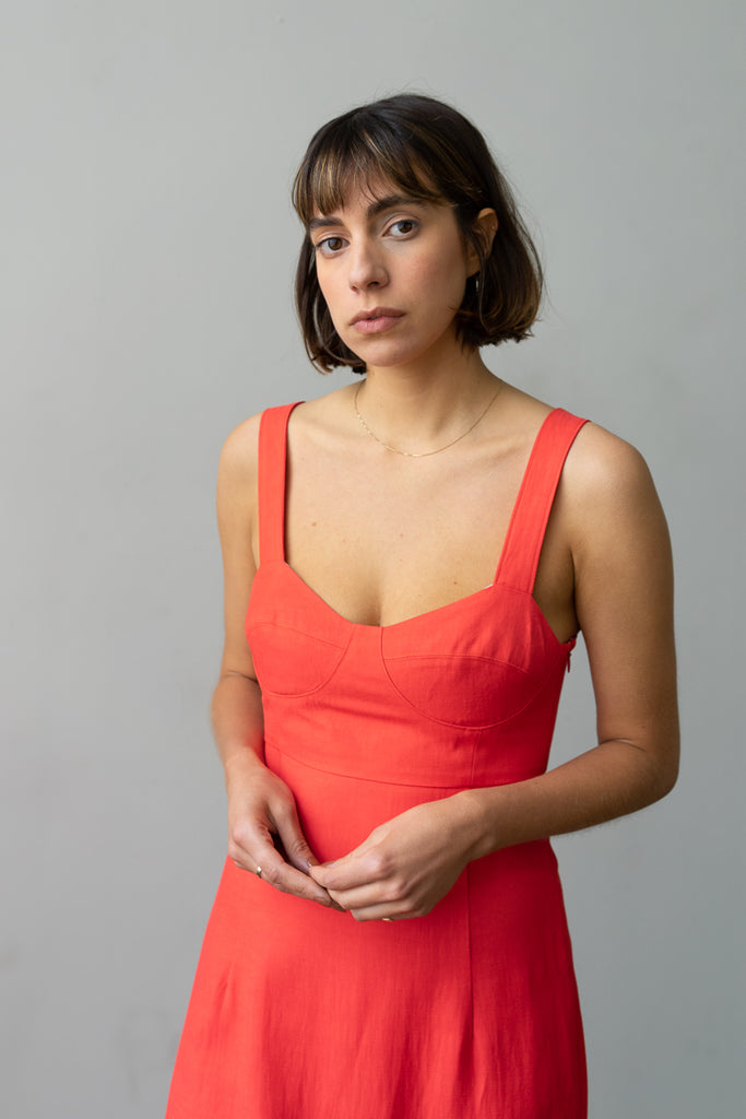 Bralette Dress in Poppy