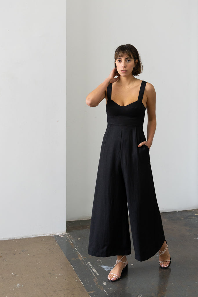 Bralette Jumpsuit in Black