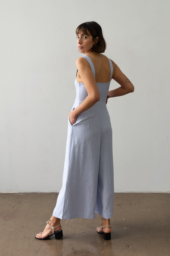 Bralette Jumpsuit in Sky