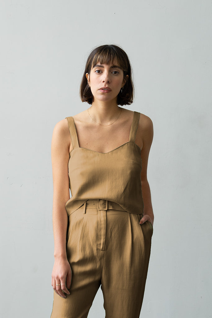 Wave Camisole in Caramel