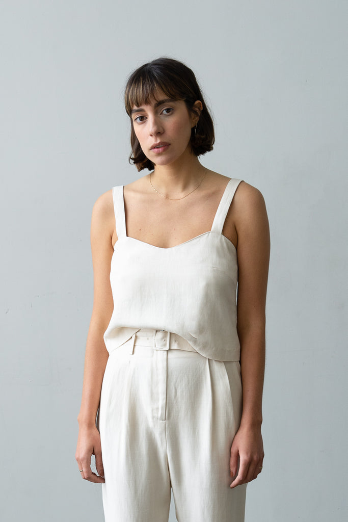 Wave Camisole in Ecru