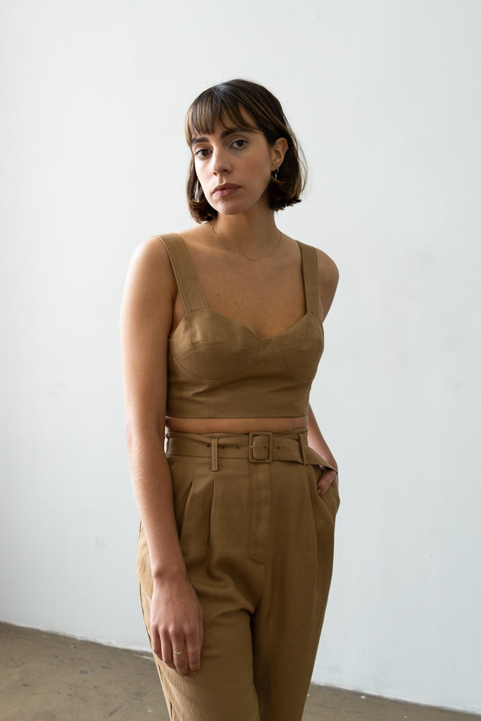 Bralette Top in Caramel