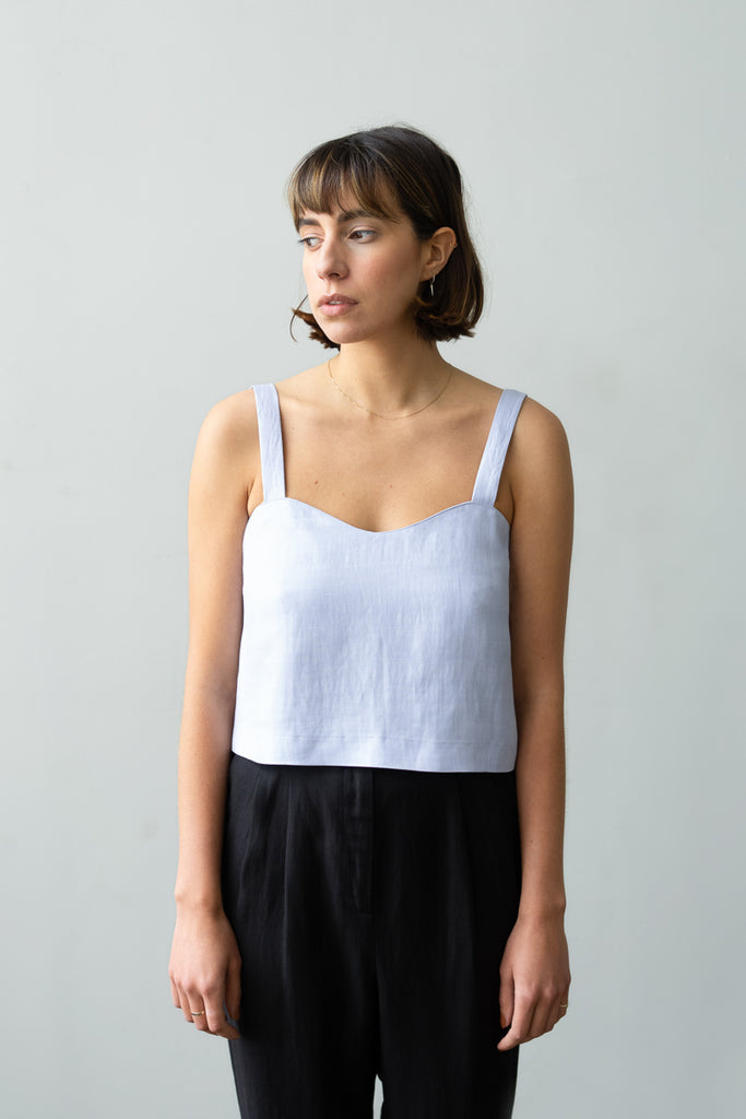 Wave Camisole in Sky