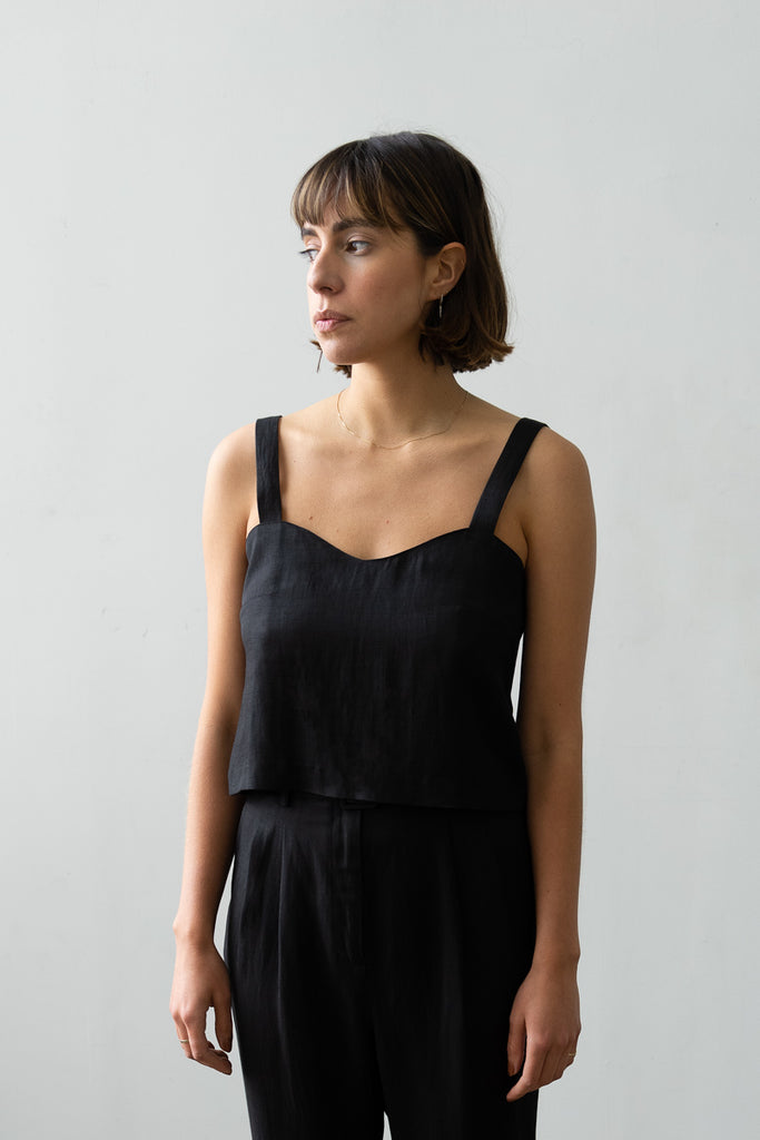 Wave Camisole in Black