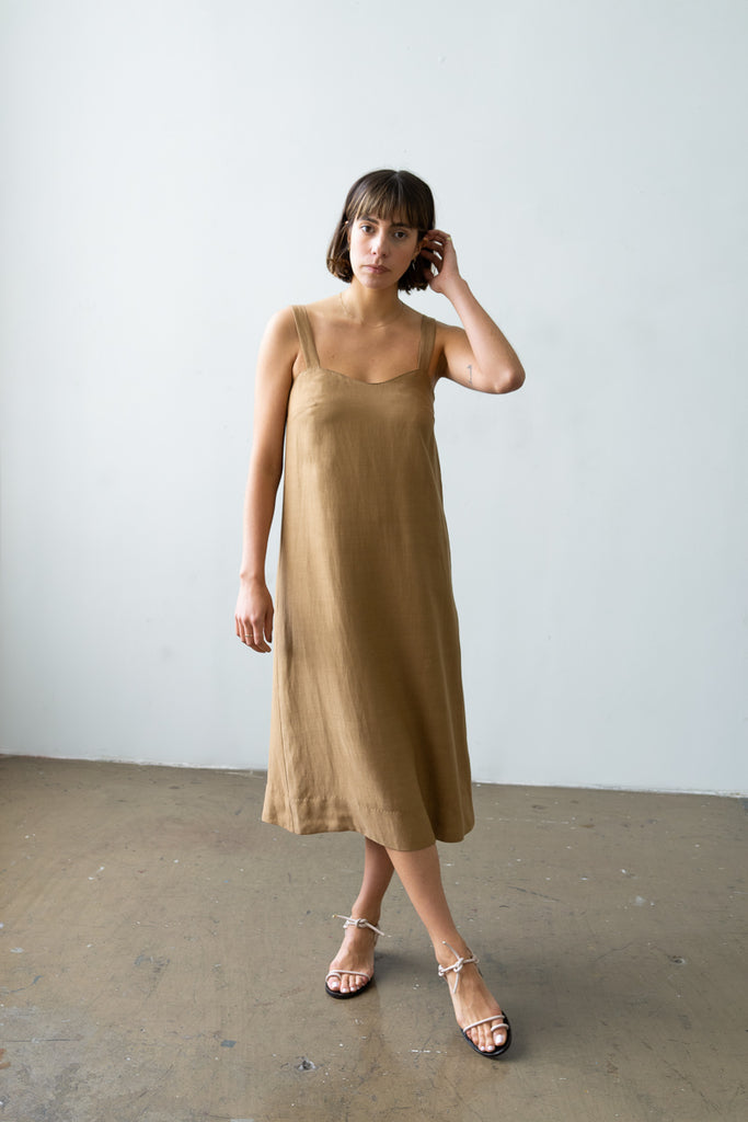 Wave Dress in Caramel