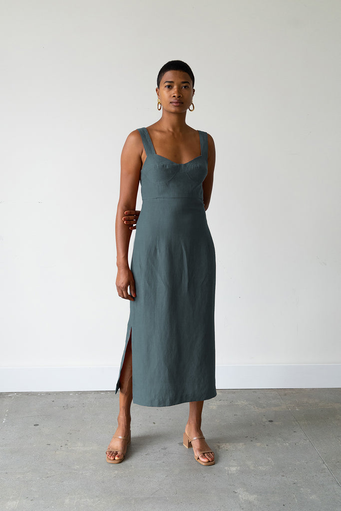 Bralette Dress in Spruce
