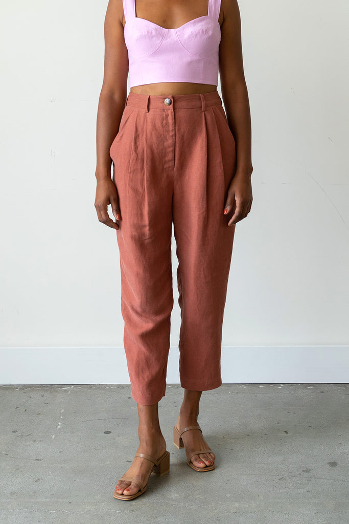 Palma Trousers in Cinnamon