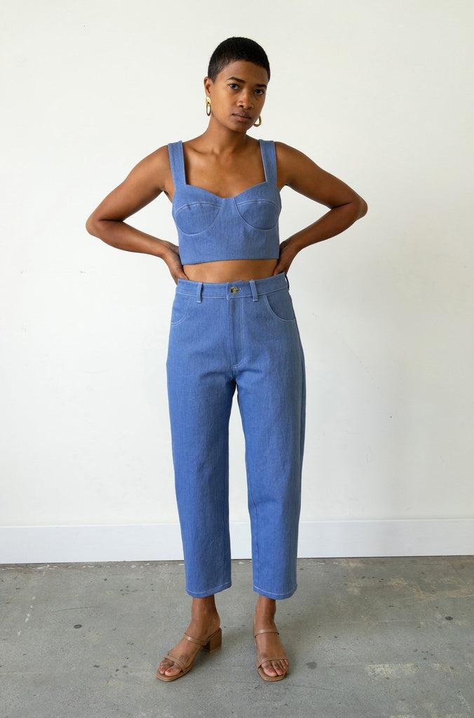 Carrot Jean in French Blue Denim