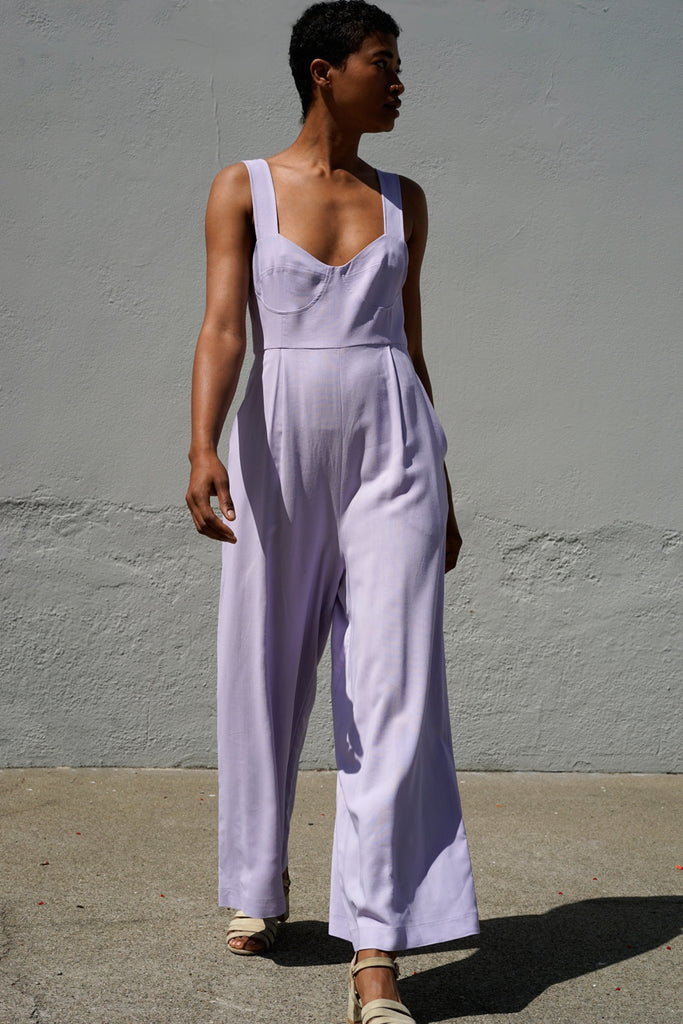 Bralette Jumpsuit in Orchid