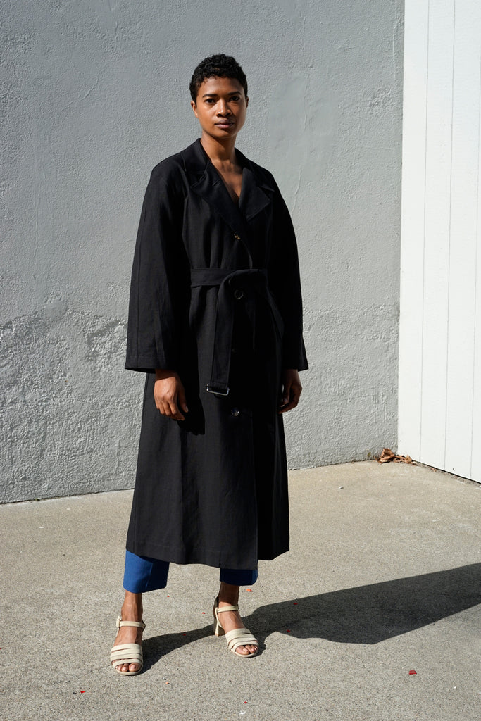 Oversized Trench in Black