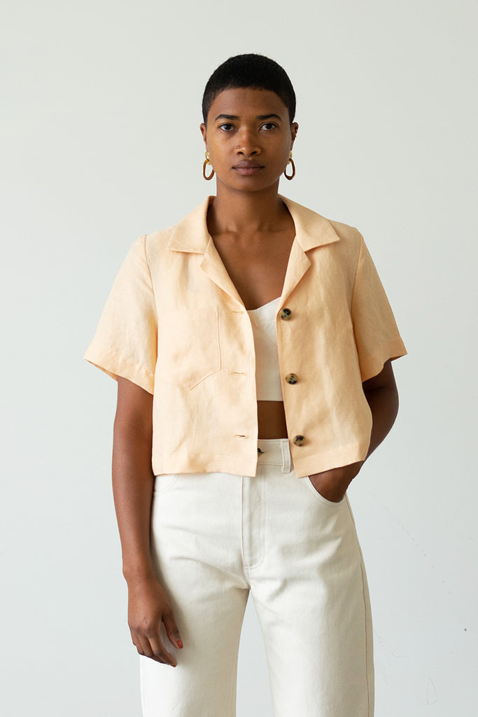 Camp Shirt-Jacket in Apricot