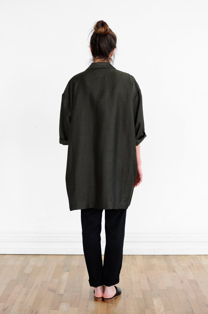 Oversized Jacket in Deep Olive
