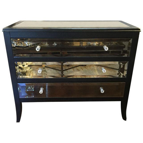# Black Mirrored Dresser