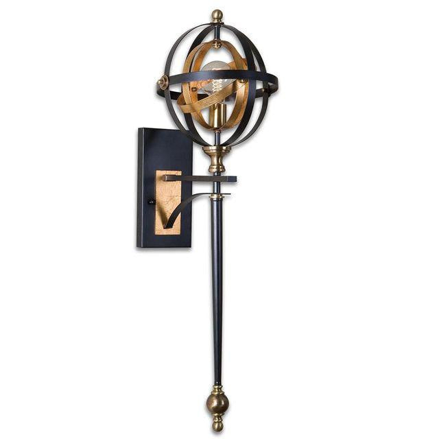 # Black and Gold Metal Sconce