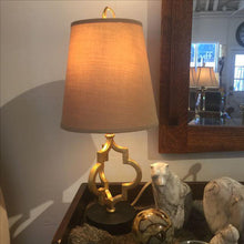 Gold Leaf Quatrefoil Lamp