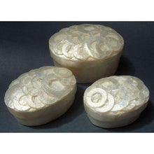 Capiz Shell Jewelry Boxes - Set of 3*