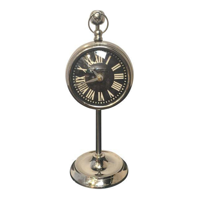 Chrome Hanging Pocket Watch Clock *