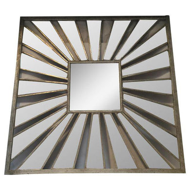 # Glam Square Metal Mirror