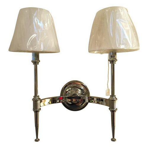 # Double Light Federalist Chrome Wall Sconce