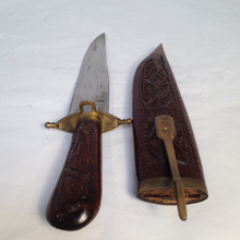 Carved Sheath and Knife
