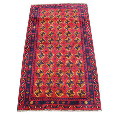 # Handmade 100% Wool Tribal Rug - 3' 5