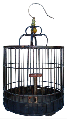 Antique Chinese Black Birdcage