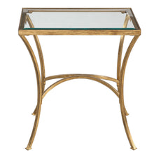 Antiqued Gold Leaf End Table